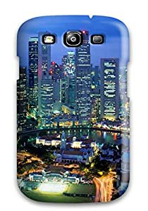 6006311K73346834 New Premium Case Cover For Galaxy S3/ Singapore City Protective Case Cover