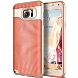 Galaxy Note 5 Case, Caseology [Wavelength Series] Slim Dual Layer Protection Textured Grip Protective Cover [Coral Pink] for Samsung Galaxy Note 5