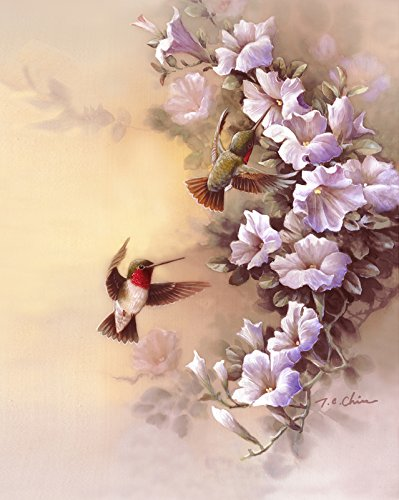 ing Glories print of Watercolor Painting - Nature, Flowers, Peaceful Gifts, Gift for Ladies, Spring ()