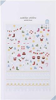 GROOMY Mutterschaft 1 Blatt Tiere Blumen Cartoon Nagel Aufkleber dekorative Briefpapier Kalender Tagebuch Notizbuch Sammelalbum Aufkleber DIY - Blume