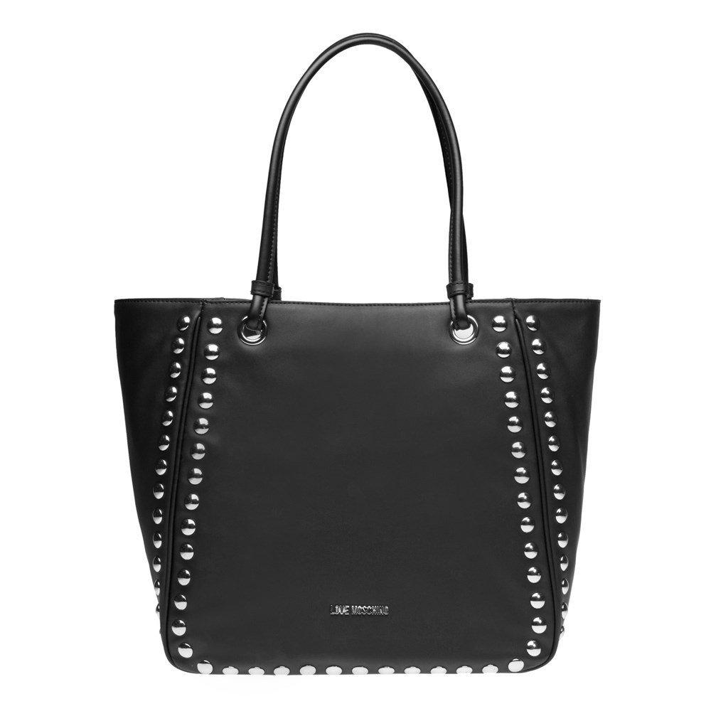 Love Moschino Studded Tote Womens Handbag Black