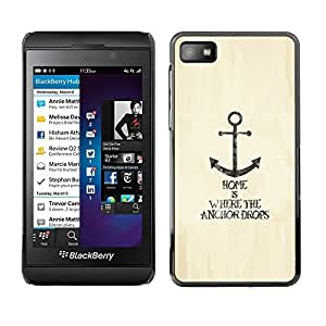 Impact Case Cover with Art Pattern Designs FOR Blackberry Z10 Anchor Home Lifestyle Quote Motivational Sea Betty shop