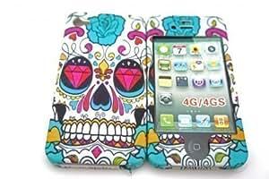 iphone 4 4S Sugar Skulls Multi Tattoo Diamond Eye Trend Fashion Full case Cover Front&Back by icecream design