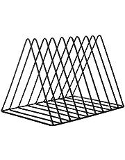 sorliva 9 Slot Triangle File Folder Racks,Newspaper Organizer Sorter,Magazine Holder,Book Racks ,Desktop Bookshelf ,Home Office Decor