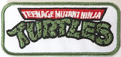 TMNT Logo bordado hierro-en remiendo 7,5 cm de las Tortugas ...