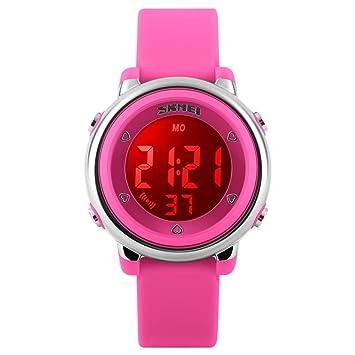 Los niños LED reloj Digital Relogio Feminino Relojes deportivos Niños Dibujos Animados Jelly Relojes Mujer Resistente al agua los relojes de pulsera, ...