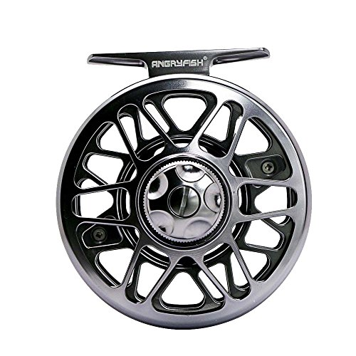 ANGRYFISH Fly Fishing Reel with CNC-machined Aluminum Alloy Body 3 4, 5 6, 7 8, 9 10