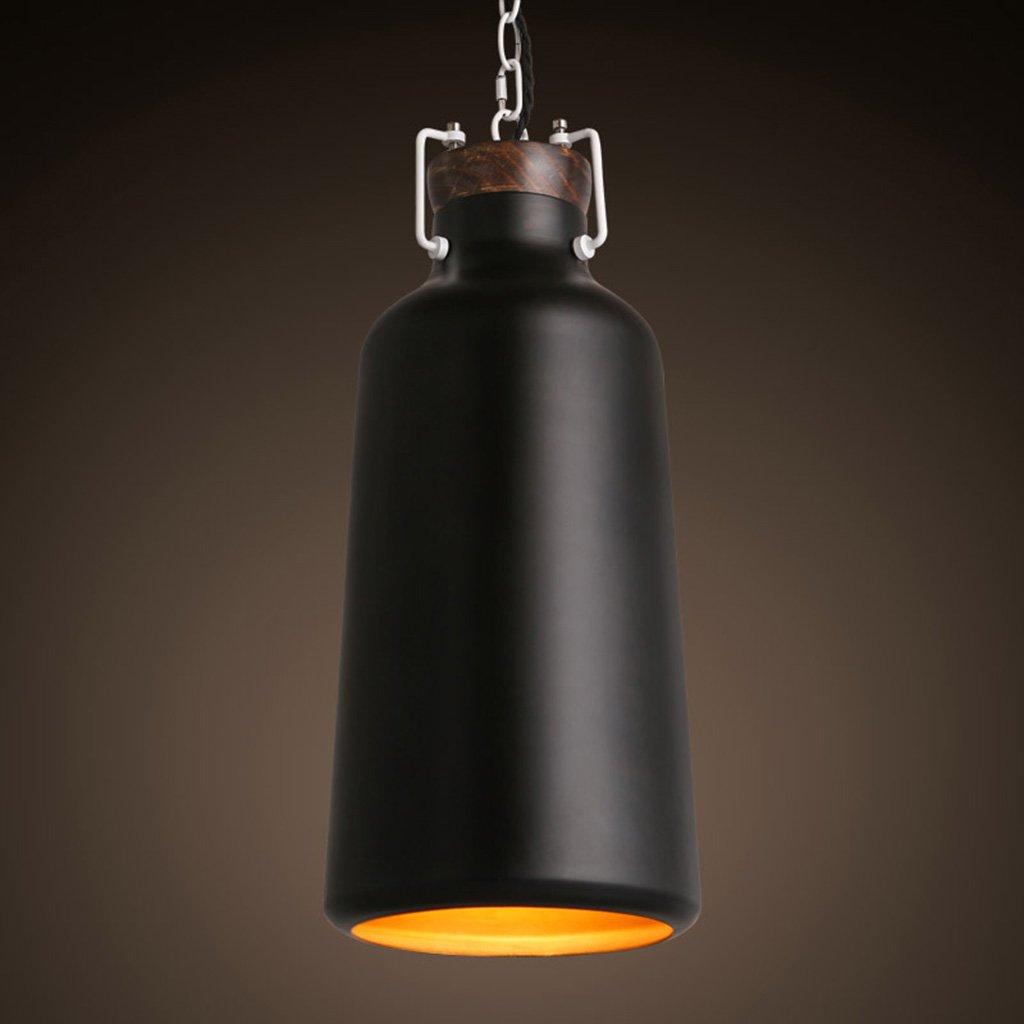 シーリングライト シングルヘッドシャンデリアバーキッチンベッドルームリビングルームモダンミニマルバーレストラン暖かい寝室シャンデリアランプ [エネルギークラスA ++] (Color : Black)  Black B07T9ZCTV2