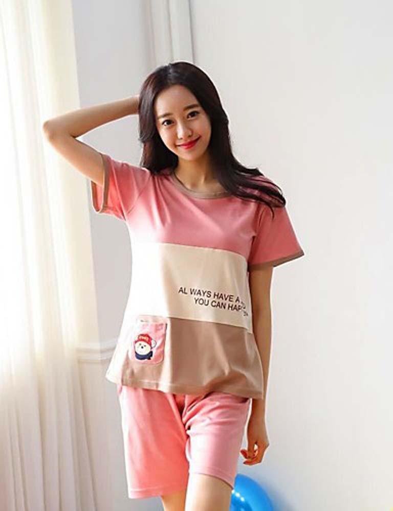 WWQY Women's Cotton Others Pajama , blushing pink , l