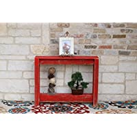 36 Red Console Table