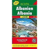 Albanien, Autokarte 1:150.000, Top 10 Tips: Toeristische wegenkaart 1:150 000 (freytag & berndt Auto + Freizeitkarten)