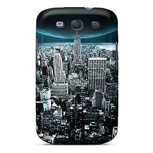 Premium con rasguñar-resistente/luna apoyo ciudad para Galaxy S3