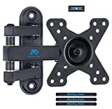 Mounting Dream TV Wall Bracket Mount Swivel and Tilt for Most 10''-26'' LED, LCD, OLED Flat Screen TVs and Monitors with VESA 50x50-100x100mm up to 15 KG, Full Motion Monitor Wall Bracket MD2463-02