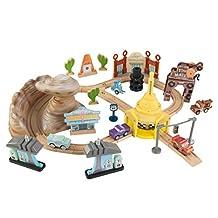 KidKraft 18013 Disney Pixar Cars 3 50 Piece Radiator Springs Track Set, Multicolored