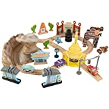 KIDKRAFT Disney Pixar Cars 3 Radiator Springs 50 Piece Wooden Track Set with Accessories