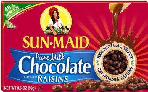 Pure Milk Chocolate Covered Raisins 3.5oz Theater Box (3 Pack)