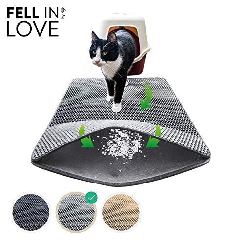 riijk Katzenklo Matte 75×58 cm | XXL Matte Katzentoilette | perfekte Katzenstreu Matte für die saubereWohnung |KatzenmatteKatzenklo