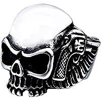 Men's Vintage Gothic Stainless Steel Rings Skull Wings Motorcycle Biker Rings Size 7-13