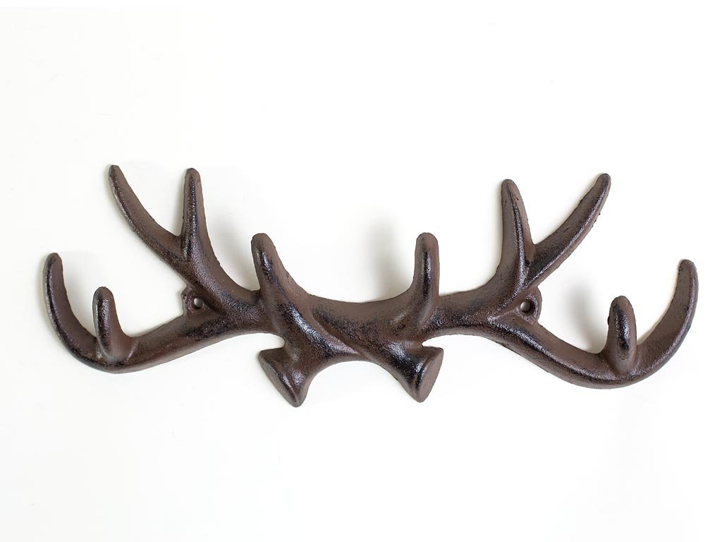 dill and mint antler coat hook