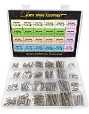 """Compression Springs NEWST Spring Assortment Kit   24 Different Sizes 240 Piece Stainless Steel Spring Assortment with Case   10~30mm(0.39"""" to 1.18"""") Length,5~7.5mm(0.2"""" to 0.3"""") OD"""