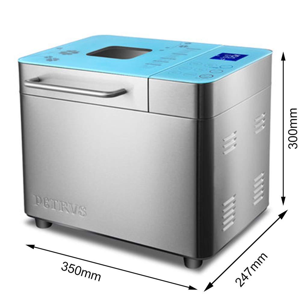 XN Kitchen Máquina para Hacer Pan Máquina para niños Bloqueo automático Pantalla de Acero Inoxidable Pantalla LCD Fermentación a Baja Temperatura 1000 g 1 ...