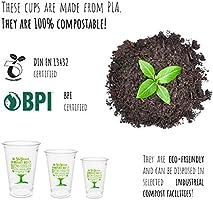 Plantvibes ® 50 x Vasos Desechables para Bebidas frías, Vajillas ...