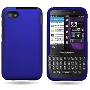 CoverON® for Blackberry Q5 Case [Snap Fit Series] Slim Fit Hard Polycarbonate Snap On Phone Cover with Matte Rubberized Grip Coating - Blue