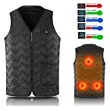 Seabei Electric Heated Vest Size Adjustable Electric Warm Vest USB Heated Clothing