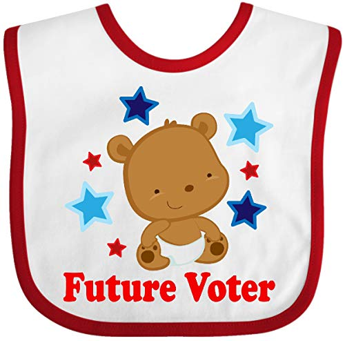 Inktastic 2020 Election Future Voter Baby Bib White and Red 3cbcb