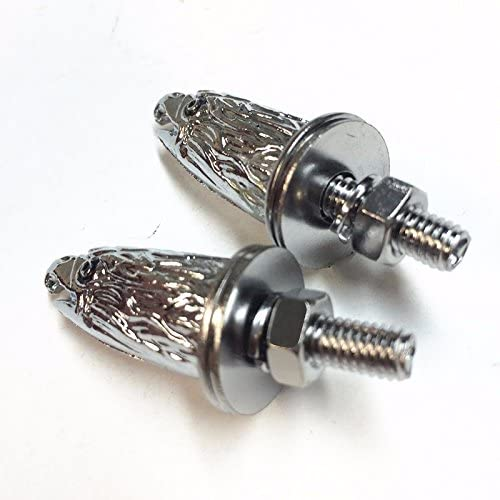 2pcs Motor Modified Chrome Decorative License Plate Eagle Head Screw for Harley