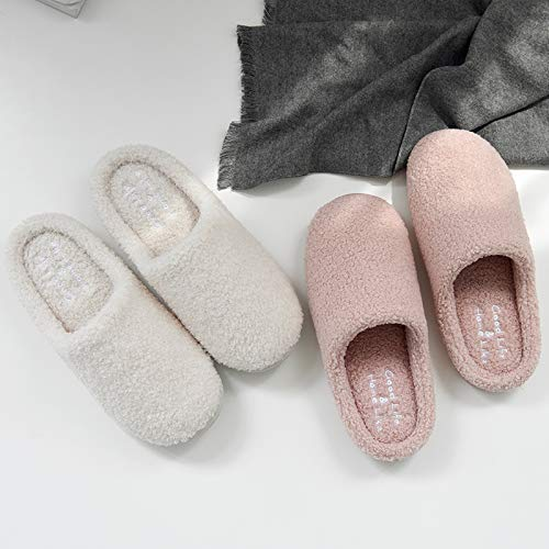 White QingMate Womens Cotton Foam Slippers Cotton Slippers Womens Thick-Soled Autumn and Winter Home nishing Couple Indoor Warm Month Wood Floor Slippers Mens Winter