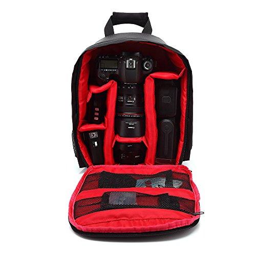 YUIOP - Funda impermeable para cámara réflex digital (Nikon, Sony, Pentax, Olympus, Panasonic, Samsung, y Canon), Rojo, Uno