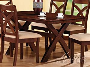New Kendall Design Dining Table In Expresso Finish ACS 80880