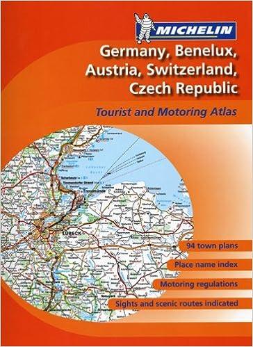 Michelin Germany Switzerland Czech Republic Road Atlas Austria Benelux