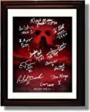 Framed Cast of Friday The 13th Autograph Replica Print - Friday The 13th