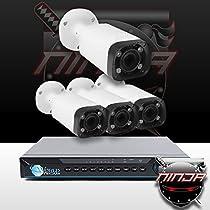 Ninja 4 Megapixel IP Bullet Camera 4CH Kit (White)