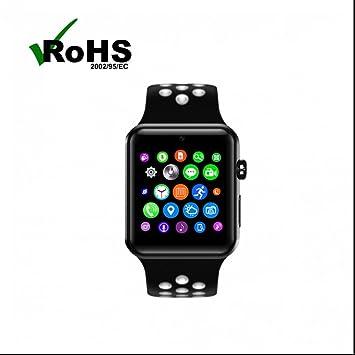 Smartwatch Relojes Deportivo con Notificación de SMS/Monitor de Calorías/ Análisis de Sueño/Control de Cámara/Contador de Pasos/Reloj Inteligente para iOS y ...