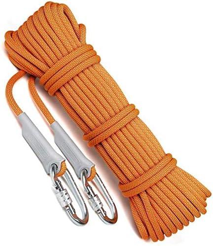 LJNAB Cuerda de la Supervivencia Seguridad en el Empleo sostenible Seguro y confiable para el diámetro del Cable Externo de 10,5 mm 50M Escalada