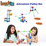 Brackitz Adventure Pulley Building Set for Kids Ages 4-7 Years Old | STEM Educational Toy | 173 Pieces