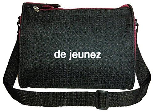 de jeunez Lunch Bag Black with Maroon