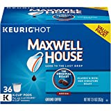 Maxwell House, Original Roast Coffee, K-Cup Pods, 36 Count, 12.4 Oz, (Pack of 4)