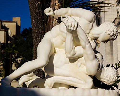 Greco-roman Wrestling, Hearst Castle, San Simeon, California Framed Photo Art Print