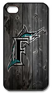 Florida Marlins wood background Iphone 5c Case PC Material Black