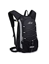 SUNVP Waterproof Mountaineering Bag Hydration Pack 12L Outdoor Hiking Climbing Cycling Commuting HydrationBackpack Daypacks