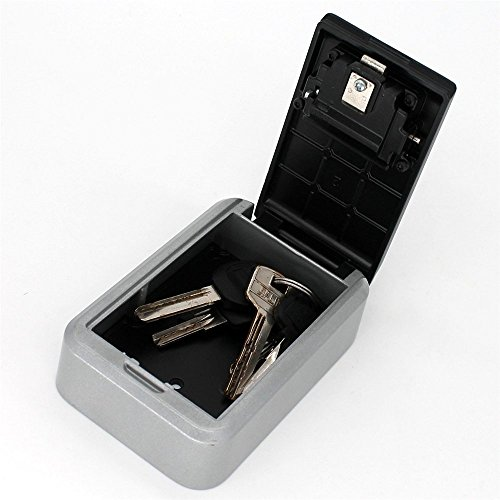 Key Lock Box,Key Storage Lock Box for House Key with 4-Digit Combination,Wall Mount Key Safe Box Weatherproof for Indoors and Outdoors (Wall Mount) by MorisMos (Image #5)