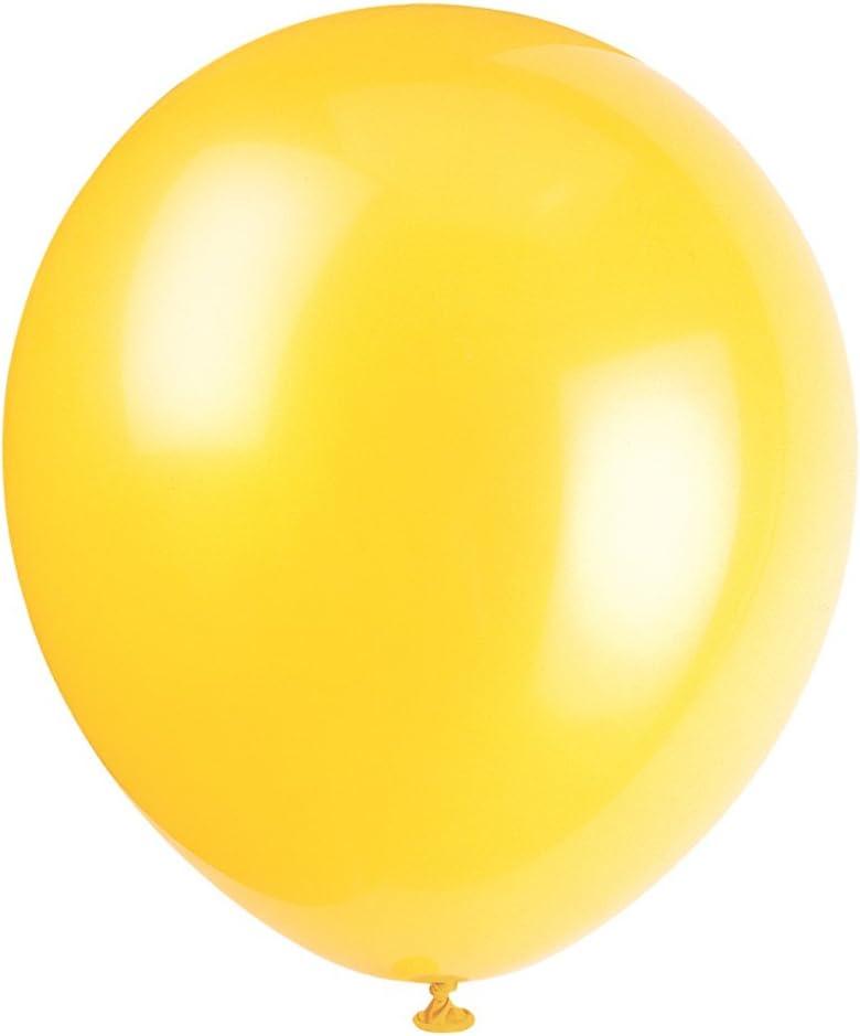 "9"" Latex Sunburst Yellow Balloons, 20ct: Kitchen & Dining"