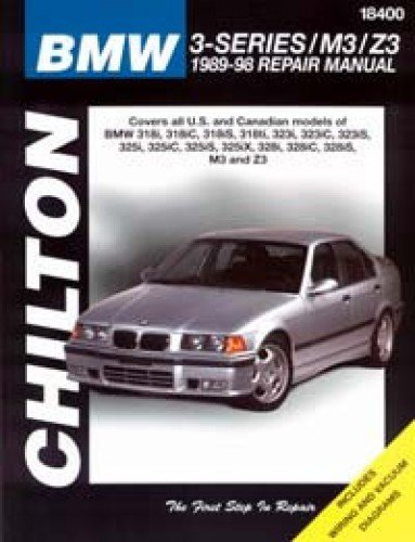 CH18400 Chilton BMW 318 323 325 M3 Z3 1989-1998 3 Series Repair Manual