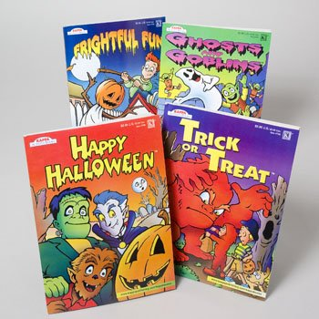 COLORING BOOK HALLOWEEN 2 ASST 96 PAGES IN FLOOR DISPLAY, Case Pack of 96]()