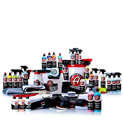 Adam's Polishes Adam's Ultimate Detailing Kit – Almost Every Detailing Product In Arsenal – Premium Detailing Chemicals, Tools, Towels, and Accessories
