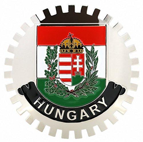 FLAG OF HUNGARY-CAR GRILLE EMBLEM BADGES